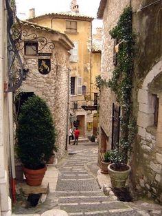 Saint Paul de Vence, France, medieval town on the the French Riviera