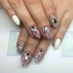 #handpainted #geometricnails #graphicnails #nailart #nails #nailswag #mnails_kinga #mnails