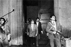 Allende a la  Moneda le 11 septembre 1973, peu avant son suicide lors du coup d'état de Pinochet