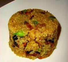 #Receta de #Quinoa con #Champiñones y #Edamame. Mix quinoa, #mushrooms and Edamame and cook this tasty #recipe!