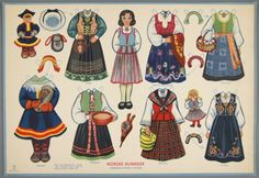 Norwegian folk costumes