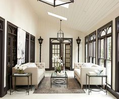 soft cream color palette with natural wood windows & doors for a beautiful light filled space