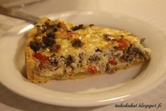 Sweet And Salty, Gluten Free Recipes, Quiche, Good Food, Food And Drink, Pizza, Keto, Baking, Breakfast