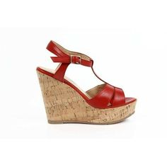 Versace 19.69 Abbigliamento Sportivo Srl Milano Italia  ladies wedge sandal 5961-3950. Made of: 50% CALF LEATHER + 50% CORKDetails: 5961-3950 NAPPA CHIC ROSSO - Color: Red - Composition: 50% CALF LEATHER + 50% CORK - Sole: RUBBER - Heel: 10,5 cm - Made: ITALYSPECIAL NOTE: this item is subject to a 3/6 days minimum delivery time.