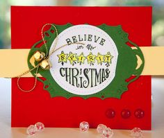 Creative Mayhem: Christmas cards using Poppy Power Clear Stamps