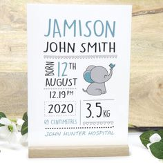 Baby Newborn Birth Details Sign Full Colour Printed Acrylic with Tasmanian Oak Base - Gifts for New Mum and Dad Baby Newborn, Baby Birth, Gifts For New Mums, Secret Santa Gifts, Peace Of Mind, New Baby Products, Baby Shower, Base, Sign
