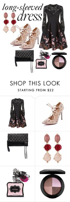 """Untitled #6200"" by pampire ❤ liked on Polyvore featuring Elie Saab, Ash, Oscar de la Renta, Victoria's Secret, MAC Cosmetics and longsleeve"