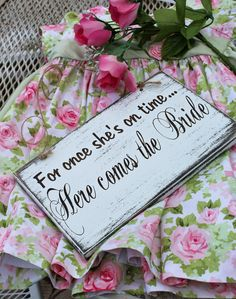Here Comes The Bride Wood Sign for Flower Girl, Fun Wedding Sign, Petal Princess Sign, Unique Wedding Signs Wedding Signs, Wedding Cards, Our Wedding, Wedding Ideas, Dream Wedding, Wedding Bells, Trendy Wedding, Unique Weddings, Rustic Wedding