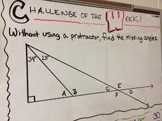 Middle School Math Man: Challenge of the Week mathcourses 162974080251745922 Teaching Geometry, Teaching Math, Math Teacher, Math Classroom, Teacher Stuff, Classroom Ideas, Fun Math, Math Games, Math Math