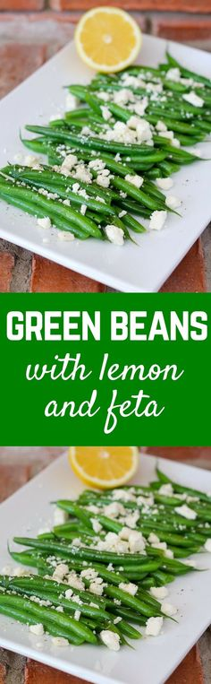 Green Beans with Lemon and Feta - Get the easy recipe on http://RachelCooks.com