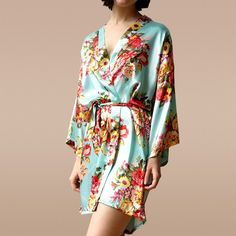 Make getting ready before the wedding even more special with matching floral bridesmaids robes.
