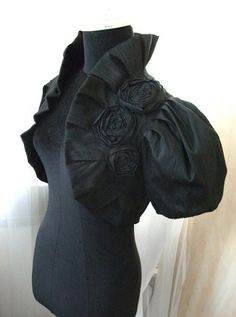 LOUIS XIV black raw silk bolero