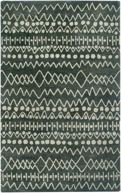 Rizzy Rugs Highland Charcoal Striped Area Rug | AllModern