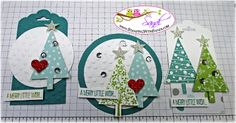Festival of Trees Tags by Sandi @ www.stampingwithsandi.com