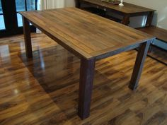 Wonderful Rustic Dining Room Tables Crafted of Untreated Wood : Small Rustic Dining Room Table Laminate Floor White Curtain
