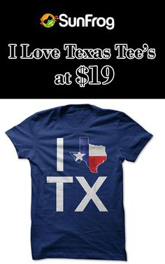 Sung frog is offering their top quality products in reasonable prices along with discounted offers, now they offering their I Love Texas Tee's In Just $19. Snap up now and avail this offer. For more Sunfrog Shirts Coupon Codes visit:  www.couponcutcode.com/coupons/love-texas-tees-just-19/