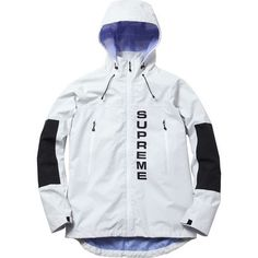 Supreme 14SS Competition Taped Seam Jacket 白&黒 size Large