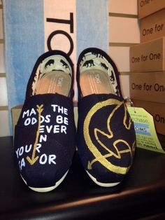 Hunger Games Painted Toms