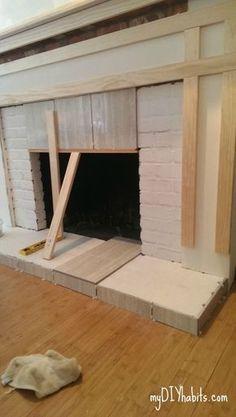 Hometalk | DIY Brick Fireplace Refacing