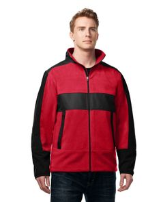 Men Fleece/mesh bonded 100% poly jackets. Tri mountain F7885 #jacket #winter #Fleece