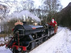 Ravenglass & Eskdale Santa Express Train in The Lake District.