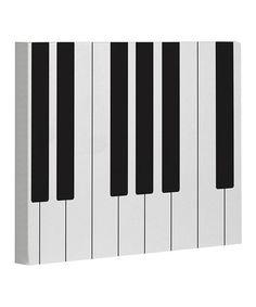 Take a look at this White & Black Piano Canvas Wall Art by OneBellaCasa on #zulily today!