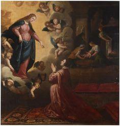 Milagroso anuncio del nacimiento de San Juan de Mata / Miraculous birth announcement of Saint John of Matha   // 1634 - 1635 // Vicente Carducho // #SaintJeanDeMatha #SaintJohnOfMatha