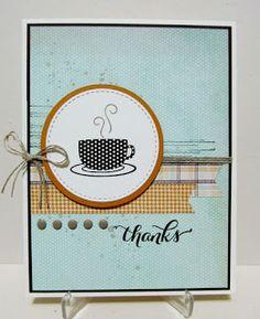 Savvy Handmade Cards: Coffee Thanks Card