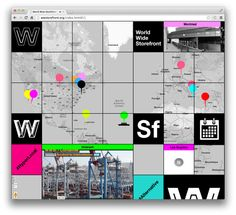 """""""WWSf"""" exhibition website for the Storefront for Art and Architecture by Natasha Jen"""