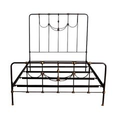 I like the combo of straight lines, radii at the corners and swooping arcs in the middle.  Elena Queen Bed | dotandbo.com