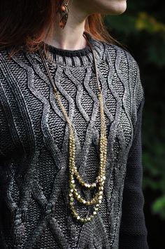 silver metallic sweater