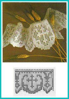 Risultati immagini per tejidos religiosos a crochet Filet Crochet, Crochet Lace Edging, Crochet Borders, Crochet Cross, Cotton Crochet, Thread Crochet, Wiggly Crochet, Crochet Girls, Crochet Home