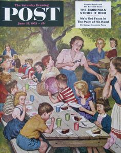 Out Of Ice Cream by Amos Sewell, June 27, 1953, Saturday Evening Post Magazine.