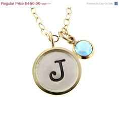 Gold Rimmed Charm Cabochon Necklace by MetalPressions on Etsy, $885.00