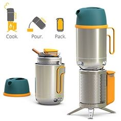 """BioLite KettlePot is coming in Fall '13. """"Pours like a kettle, cooke like a pot"""" and the CampStove nests right into the pot for easy packing!"""