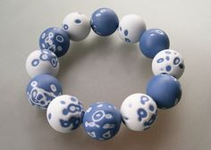 Shu-lin Wu Porcelain Jewelry, Ceramic Jewelry, Glass Jewelry, Beaded Jewelry, Glass Beads, Bead Jewellery, Ceramic Art, Polymer Clay Beads, Lampwork Beads