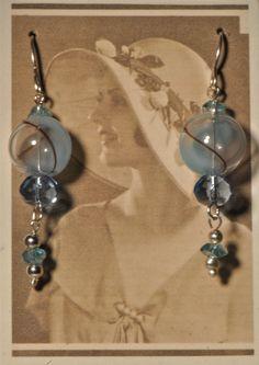 Glass Globe Dangle Earrings by Foresthollow on Etsy, $38.00