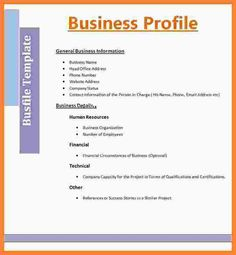 12 best company profile resume images on pinterest business