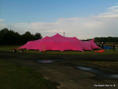 20m diameter pink octagon - sides closed.