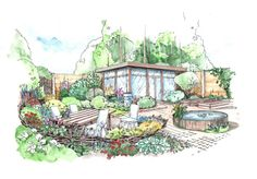From MOX landscape architects from St.Petersburg, Russia. Sketches made by their lead architect Yury Fomenko. www.landarchs.com
