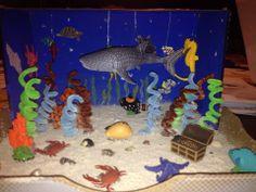 Carter's Whale Shark Diorama-3rd grade project