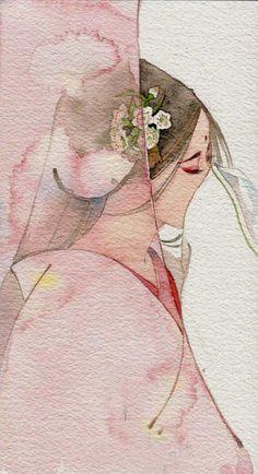 by Chinese illustrator Ibuki Satsuki 伊吹五月: Art And Illustration, Character Illustration, Manga Art, Anime Art, Oriental, Art Asiatique, China Art, Chinese Painting, Japanese Art
