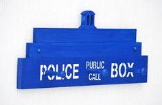 Geek Decor Coat Rack DR WHO Police Box