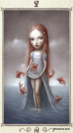 Page of Cups - Nicoletta Ceccoli Tarot by Nicoletta Ceccoli