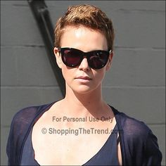 Charlize Theron short hair for Mad Max - in LA on Feb 1
