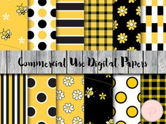 Bee Digital Paper Honey bee Bumble bee digital papers