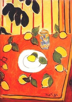 Henri Matisse - Black Philodendron and Lemons, 1943 Painting idea? Henri Matisse, Matisse Kunst, Matisse Art, Matisse Paintings, Picasso Paintings, Art Paintings, Indian Paintings, Abstract Paintings, Landscape Paintings