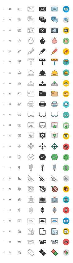 free responsive icons set
