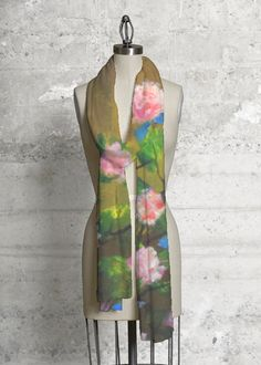 Crafted with a soft, sustainably made fabric that will add a sophisticated modern accent to any outfit. Features work of a VIDA independent artist. Print Patterns, High Neck Dress, The Originals, Roses, Unique, Fabric, Outfits, Shopping, Collection