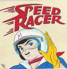 Speed Racer by on DeviantArt Old School Cartoons, Old Cartoons, Classic Cartoons, Old Cartoon Movies, Cartoon Tv Shows, Favorite Cartoon Character, Comic Character, Speed Racer Cartoon, Cartoon Crazy